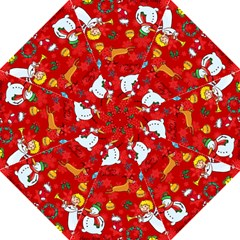 Cute Christmas Seamless Pattern Vector  Hook Handle Umbrellas (Large) by Onesevenart