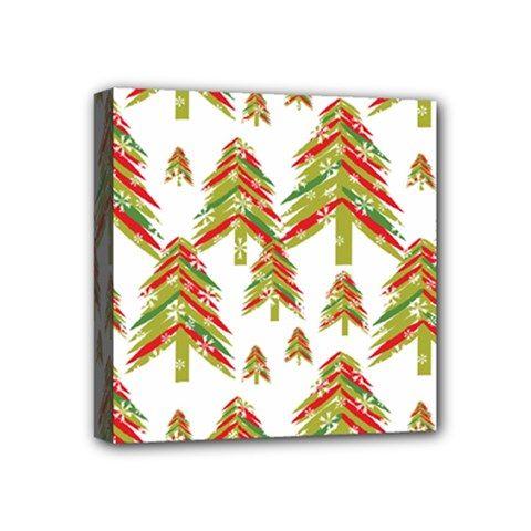 Cute Christmas Seamless Pattern Vector    Mini Canvas 4  x 4  by Onesevenart
