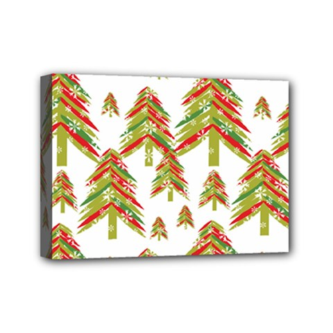 Cute Christmas Seamless Pattern Vector    Mini Canvas 7  X 5  by Onesevenart