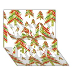 Cute Christmas Seamless Pattern Vector    You Rock 3d Greeting Card (7x5) by Onesevenart