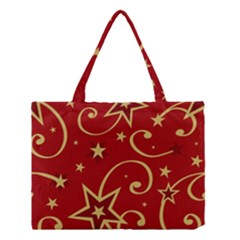 Elements Of Christmas Decorative Pattern Vector Medium Tote Bag by Onesevenart