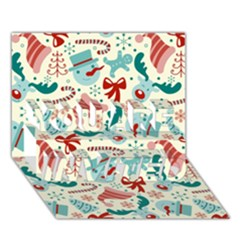 Pattern Christmas Elements Seamless Vector       You Are Invited 3d Greeting Card (7x5) by Onesevenart