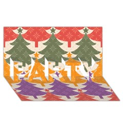 Tree Christmas Pattern Party 3d Greeting Card (8x4) by Onesevenart