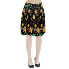 Ladybugs and flowers 3 Pleated Skirt by Valentinaart