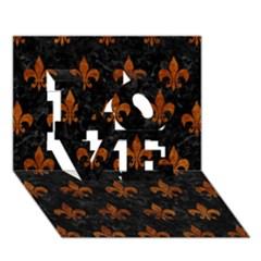 Royal1 Black Marble & Brown Marble (r) Love 3d Greeting Card (7x5) by trendistuff