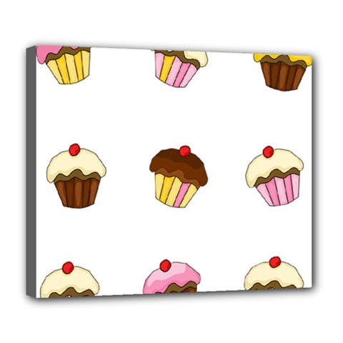 Colorful Cupcakes  Deluxe Canvas 24  X 20   by Valentinaart