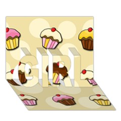 Colorful Cupcakes Pattern Girl 3d Greeting Card (7x5) by Valentinaart