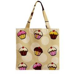 Colorful Cupcakes Pattern Grocery Tote Bag by Valentinaart