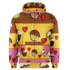Love Cupcakes Men s Zipper Hoodie by Valentinaart