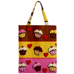 Love Cupcakes Zipper Classic Tote Bag by Valentinaart
