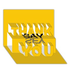 Say Yes Thank You 3d Greeting Card (7x5) by AnjaniArt
