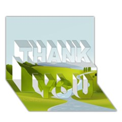 Scenery Thank You 3d Greeting Card (7x5) by AnjaniArt