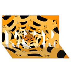 Spider Helloween Yellow Mom 3d Greeting Card (8x4) by AnjaniArt