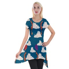 Foxfabricsmall Weasel Short Sleeve Side Drop Tunic
