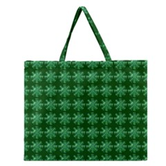 Snowflakes Square Zipper Large Tote Bag by Zeze