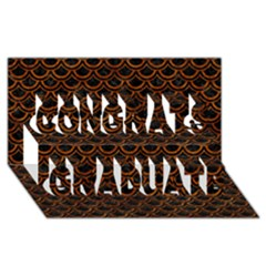 Scales2 Black Marble & Brown Marble Congrats Graduate 3d Greeting Card (8x4)