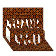 Scales2 Black Marble & Brown Marble (r) Thank You 3d Greeting Card (7x5) by trendistuff