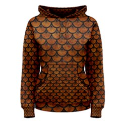 Scales3 Black Marble & Brown Marble (r) Women s Pullover Hoodie by trendistuff