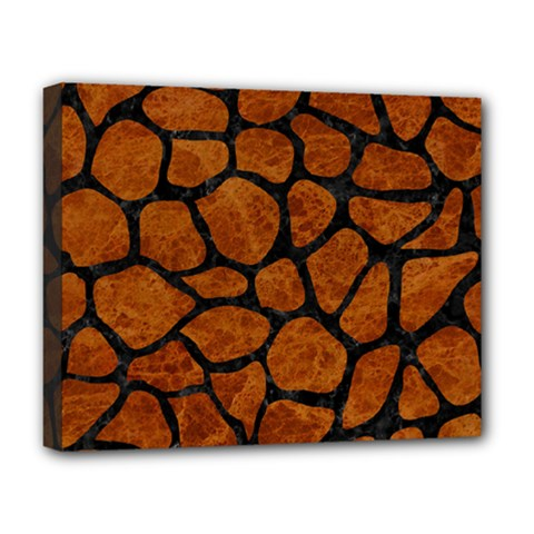 Skin1 Black Marble & Brown Marble Deluxe Canvas 20  X 16  (stretched) by trendistuff