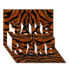 SKN2 BK-BR MARBLE (R) TAKE CARE 3D Greeting Card (7x5) by trendistuff