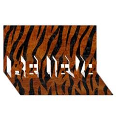 Skin3 Black Marble & Brown Marble (r) Believe 3d Greeting Card (8x4) by trendistuff