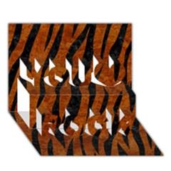 Skin3 Black Marble & Brown Marble (r) You Rock 3d Greeting Card (7x5) by trendistuff