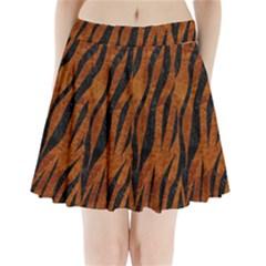 SKN3 BK-BR MARBLE (R) Pleated Mini Skirt by trendistuff