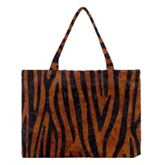 Skin4 Black Marble & Brown Marble Medium Tote Bag