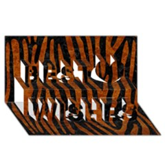 Skin4 Black Marble & Brown Marble (r) Best Wish 3d Greeting Card (8x4)