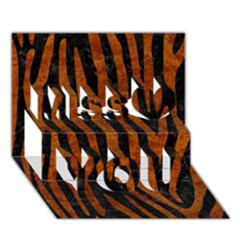 Skin4 Black Marble & Brown Marble (r) Miss You 3d Greeting Card (7x5)
