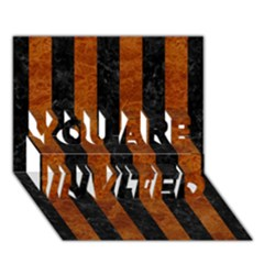 Stripes1 Black Marble & Brown Marble You Are Invited 3d Greeting Card (7x5) by trendistuff