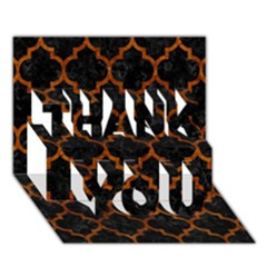 Tile1 Black Marble & Brown Marble Thank You 3d Greeting Card (7x5)