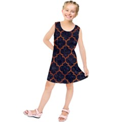 TIL1 BK-BR MARBLE Kids  Tunic Dress by trendistuff