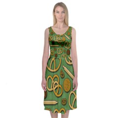 Bakery 4 Midi Sleeveless Dress by Valentinaart