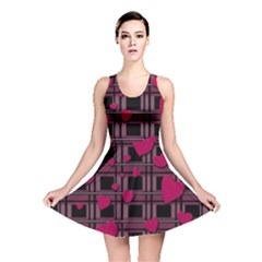 Harts Pattern Reversible Skater Dress by Valentinaart