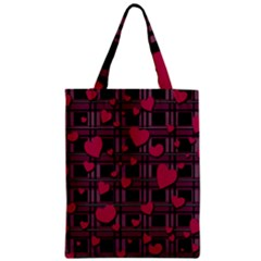 Harts Pattern Classic Tote Bag by Valentinaart