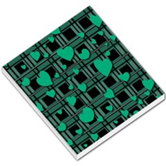 Green Love Small Memo Pads by Valentinaart