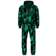 Green Love Hooded Jumpsuit (men)  by Valentinaart
