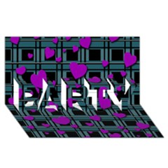 Purple Love Party 3d Greeting Card (8x4) by Valentinaart