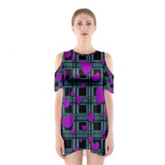 Purple Love Cutout Shoulder Dress by Valentinaart