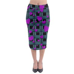 Purple love Midi Pencil Skirt by Valentinaart