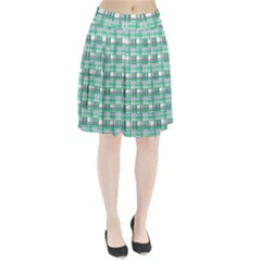 Green plaid pattern Pleated Skirt by Valentinaart