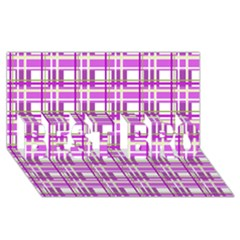 Purple Plaid Pattern Best Bro 3d Greeting Card (8x4) by Valentinaart