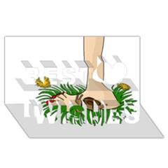 Barefoot In The Grass Best Wish 3d Greeting Card (8x4) by Valentinaart