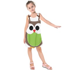 Clip Art Animals Owl Kids  Sleeveless Dress