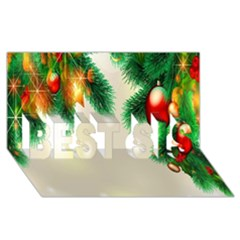 Ornament Christmast Pattern BEST SIS 3D Greeting Card (8x4) by Onesevenart