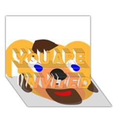 Solidarity Clipart Bear Head Teddy Bear Xmas Christmas Stuffed Animal You Are Invited 3d Greeting Card (7x5) by Onesevenart