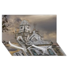 Exterior Facade Antique Colonial Church Olinda Brazil Twin Heart Bottom 3d Greeting Card (8x4)