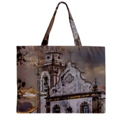 Exterior Facade Antique Colonial Church Olinda Brazil Zipper Mini Tote Bag by dflcprints