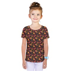 Exotic Colorful Flower Pattern  Kids  One Piece Tee
